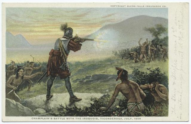 Champlain's Battle with the Iroquois, Ticonderoga, July, 1609