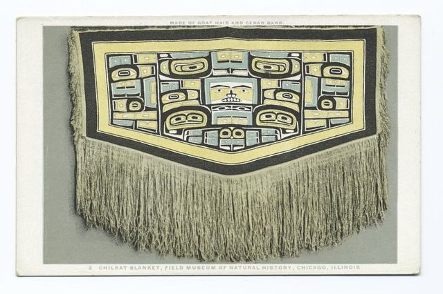 Chilkat Blanket, Field Museum of Natural History, Chicago, Illinois, Made of Goat Hair and Cedar Bark