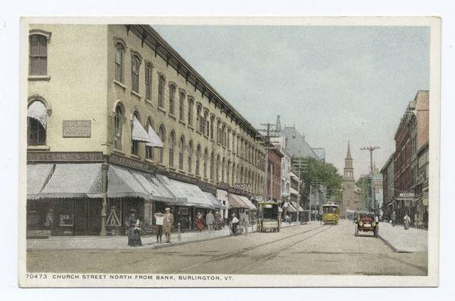 Church Street north from Bank, Burlington, Vt.