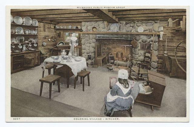 Colonial Village - Kitchen, Milwaukee Public Museum Group, Milwaukee, Wisc.