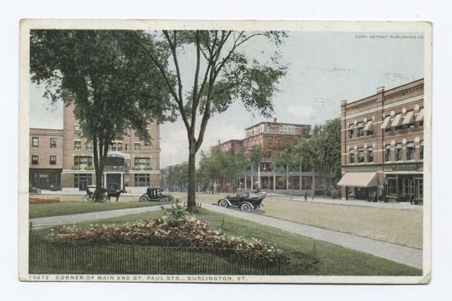 Corner of Main and St. Pauls Street, Burlington, Vt.