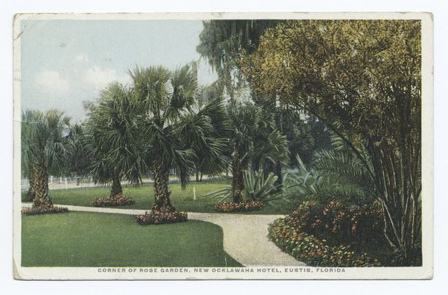Corner of Rose Garden, New Ocklawaha Hotel, Eustis, Florida