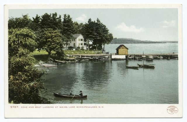 Cove and Boat Landing, Weirs, Lake Winnipesaukee, N. H.