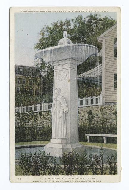 D. A. R. Fountain in Memory of the Women of the Mayflower, Plymouth, Mass.