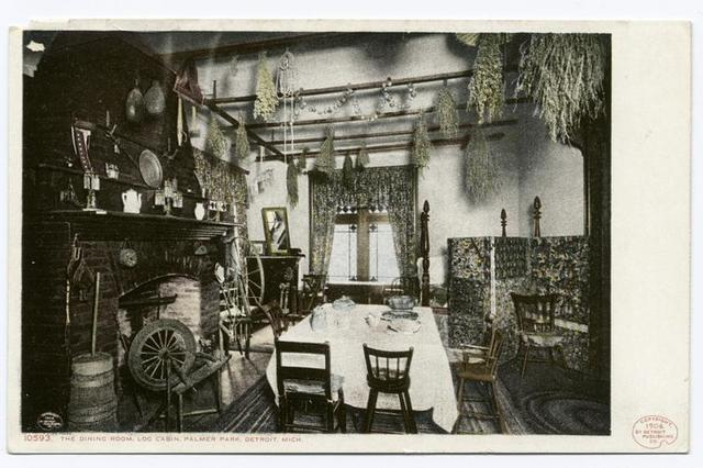 Dining Room of Log Cabin, Palmer Park, Detroit, Mich.