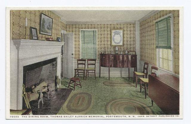 Dining Room, Thomas Bailey Aldrich Memorial, Portsmouth, N. H.