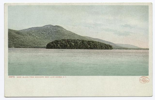 Dome Island from Sagamore Dock, Green Island, Lake George, N. Y.