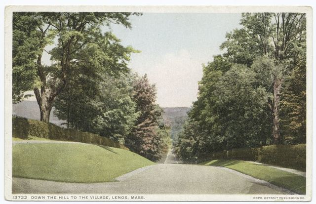 Down the Hill to the Village, Lenox, Mass.