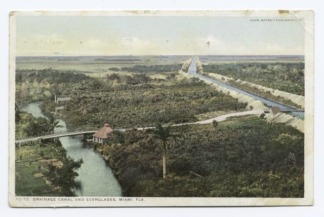 Drainage Canal and Everglades, Miami, Fla.