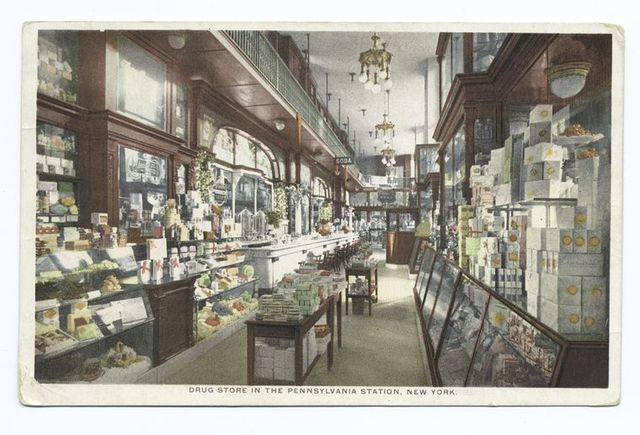 Drug Store in the Pennsylvania Station, New York