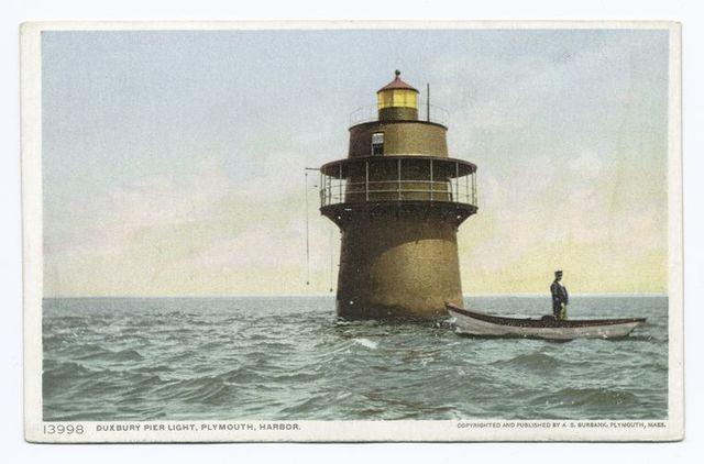 Duxbury Pier Light, Plymouth, Mass.
