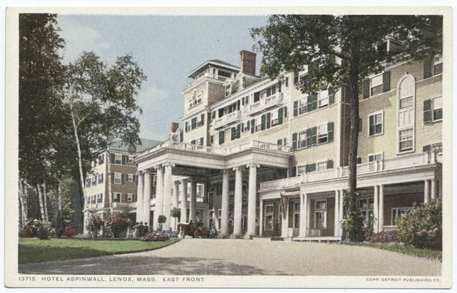East Front, Hotel Aspinwall, Lenox, Mass.