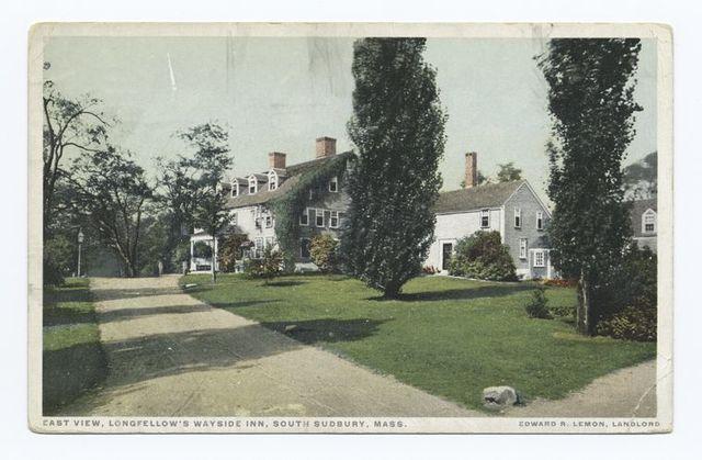 East View, Longfellow's, Wayside Inn, South Sudbury, Mass., Edward R. Lemon, Landlord
