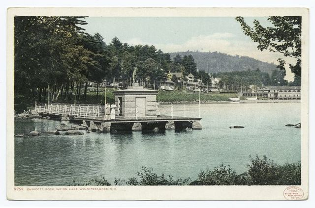 Endicott Rock, Weirs, Lake Winnipesaukee, N. H.