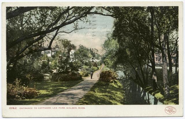 Entrance to Coytmore Lea Park, Malden, Mass.