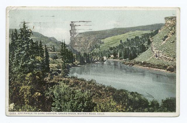 Entrance to Gore Canyon, Moffat Road, Colorado