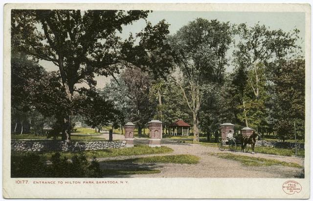 Entrance to Hilton Park, Saratoga, N. Y.