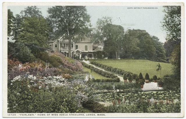 Fairlawn, Home of Miss A. Kneeland, Lenox, Mass.