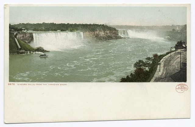 Falls from Canadian Shore, Niagara, N. Y.
