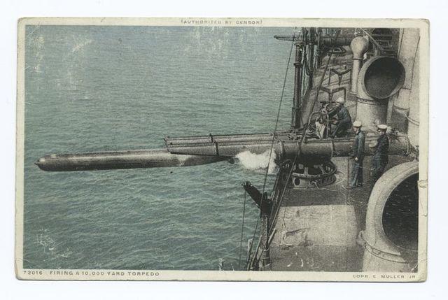 Firing a 10000 Yard Torpedo, World War I