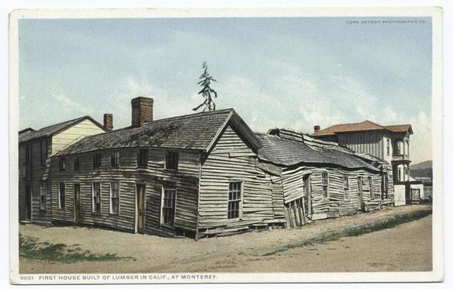 First House Build of Lumber in California, Monterey, Calif.