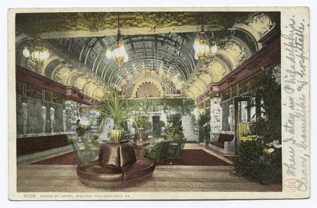 Foyer of Hotel Walton, Philadelphia, Pa.