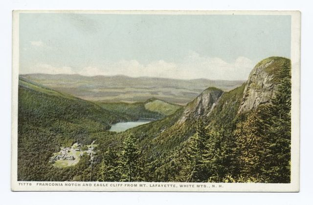 Franconia Notch and Eagle Cliff, Mt. Lafayette, New Hampshire