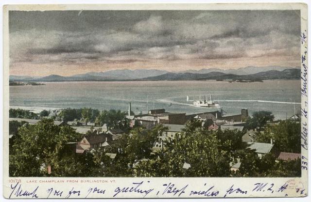 From Burlington, Vt. (Battery Park), Lake Champlain, Vt.