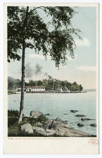 From Endicott Rock, Weirs, Lake Winnipesaukee, N. H.