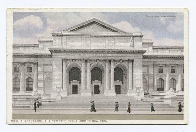 Front Facade, Public Library, New York, N. Y.