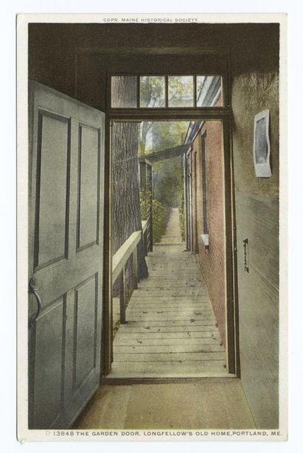Garden Door, Longfellow's Old Home, Portland, Me.