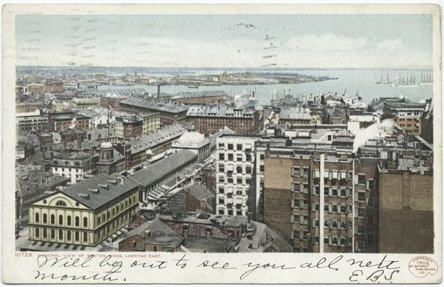 General View Looking East (Harbor View from Ames Building), Boston, Mass.