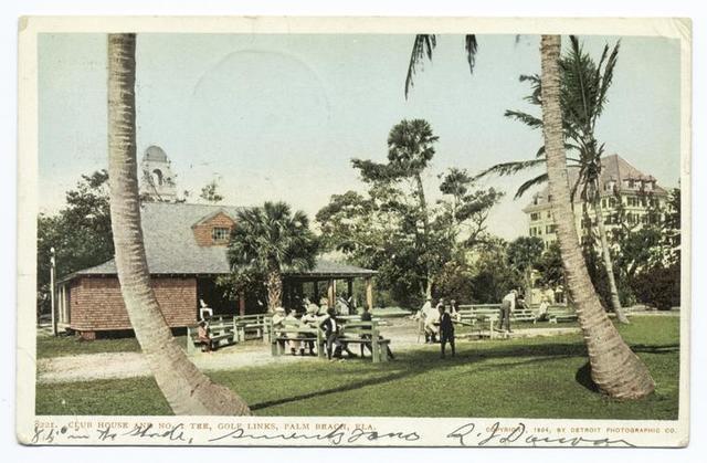 Golf Links, Club House No. 1 Tee, Palm Beach, Fla.