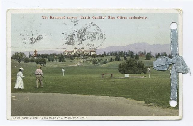 Golf Links, Hotel Raymond, Pasadena, Calif.