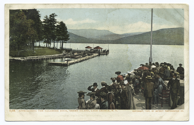 Green Island,  approaching Sagamore Dock, Lake George, N. Y.