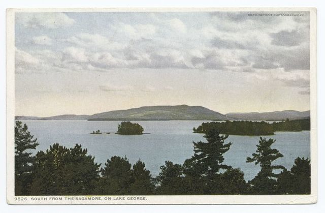 Green Island south from Sagamore, Lake George, N. Y.