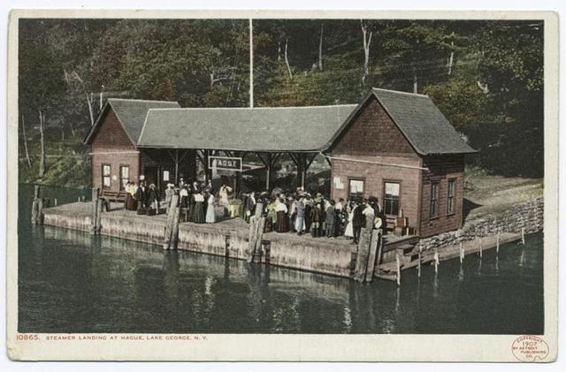 Hague Steamer Landing, Lake George, N. Y.