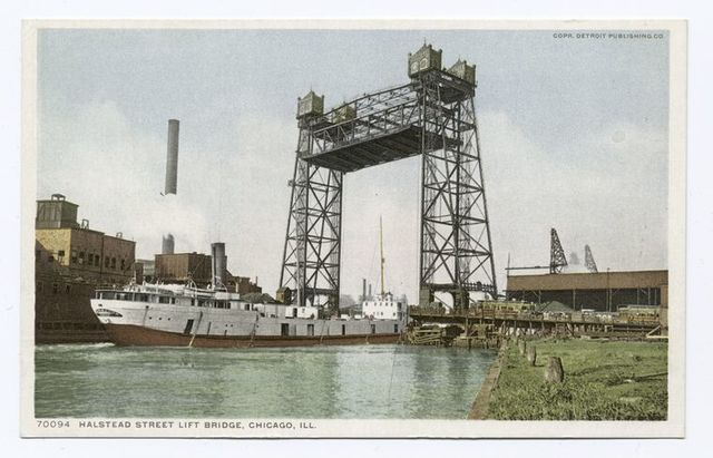 Halstead Street Lift Bridge, Chicago, Ill.