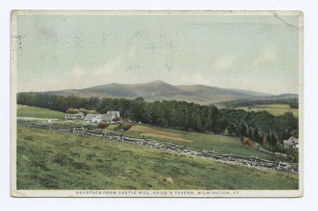 Haystack from Castle Hill, Child's Tavern, Wilmington, VT.