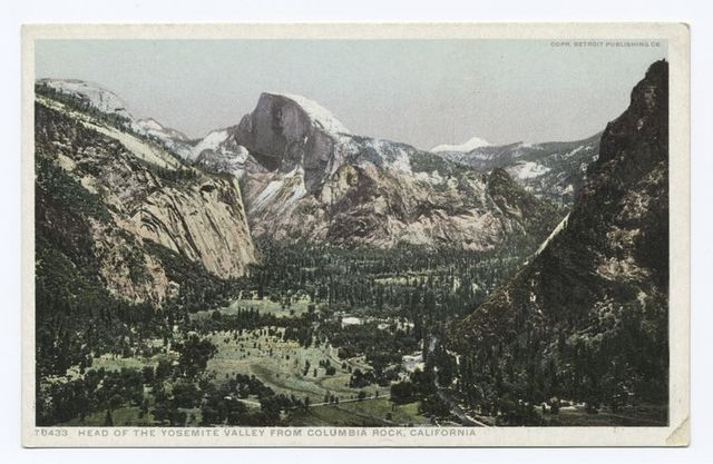 Head of Yosemite Valley from Columbia Rock, Yosemite, Calif.