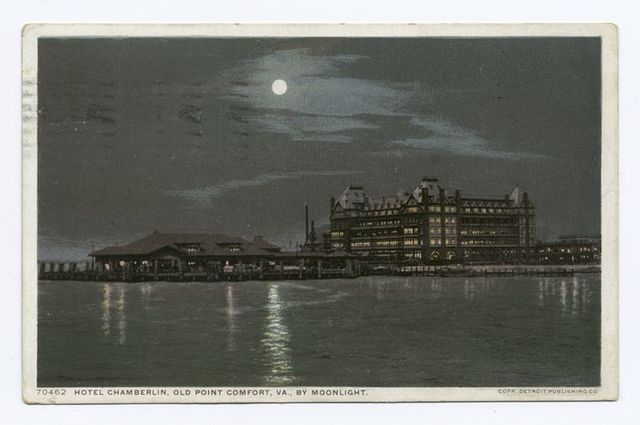 Hotel Chamberlain by Moonlight, Old Point Comfort, Va.