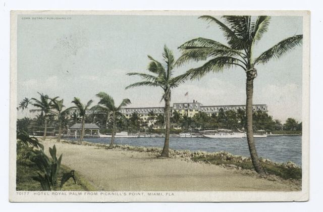 Hotel Royal Palm from Picknill's Point, Miami, Fla.