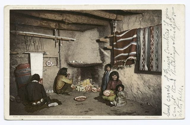 Indian Living Room, Hopi House, Grand Canyon, Ariz.