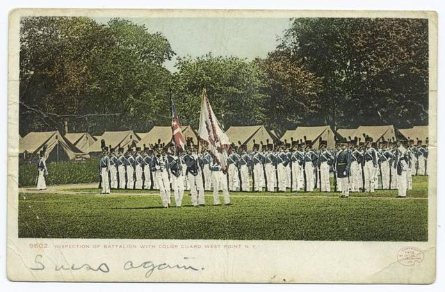 Inspection of Battalion with Color Guard, West Point, N. Y.
