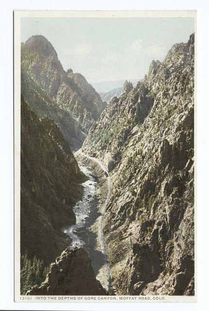 Into the Depths of Gore Canyon, Moffat Road, Colorado