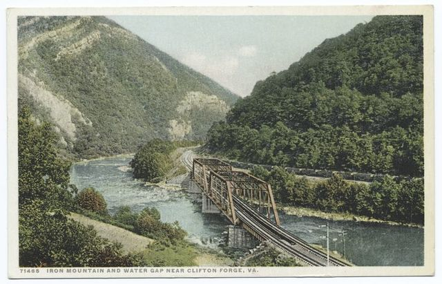 Iron Mountain and Water Gap, near Clifton Forge, Va.