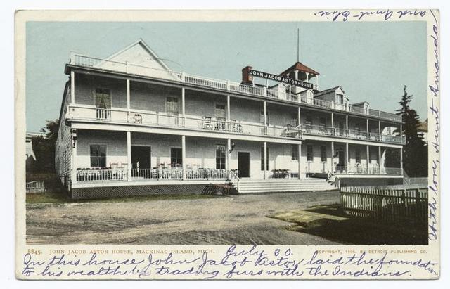 John Jacob Astor House, Mackinac Island, Michigan