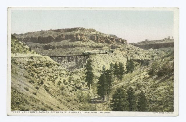 Johnson's Canyon between Williams and Ash Fork, Arizona