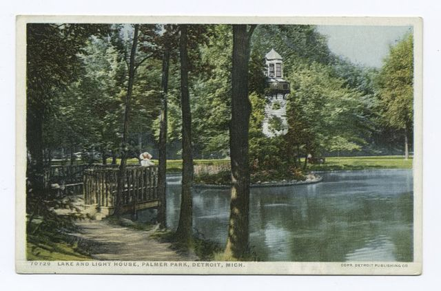 Lake and Lighthouse, Palmer Park, Detroit, Mich.