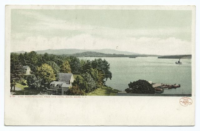 Lake from New Hotel, Weirs, Lake Winnipesaukee, N. H.
